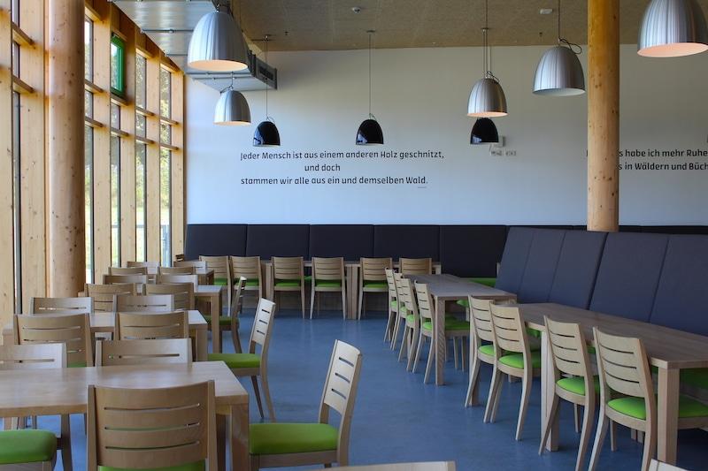 Der Speisesaal im Panarbora ist hell und freundlich eingerichtet.